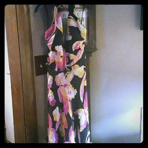 Floral halter dress Cache Sz8